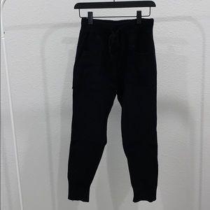 Black knit high waisted Zara joggers